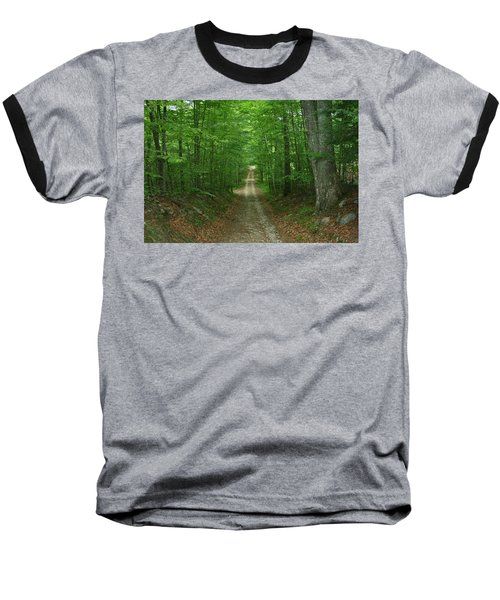Nature's Way At James L. Goodwin State Forest  Baseball T-Shirt by Neal Eslinger