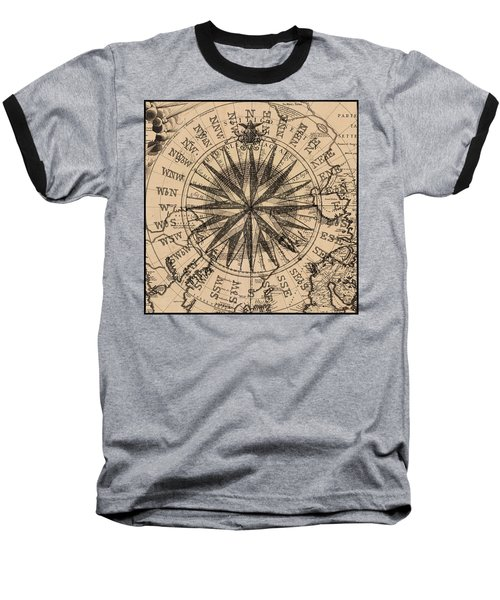 Baseball T-Shirt featuring the painting Nautical II by James Christopher Hill