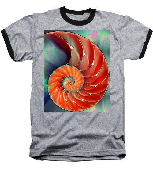 Nautilus Shell - Nature's Perfection Baseball T-Shirt