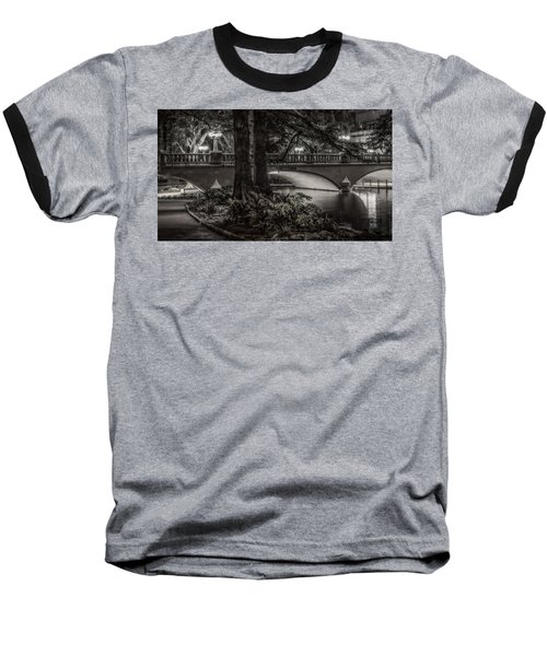 Navarro Street Bridge At Night Baseball T-Shirt