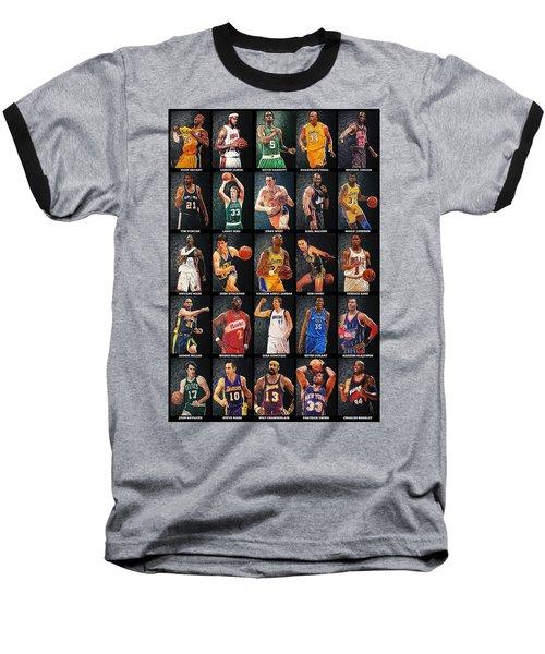 Nba Legends Baseball T-Shirt by Taylan Apukovska
