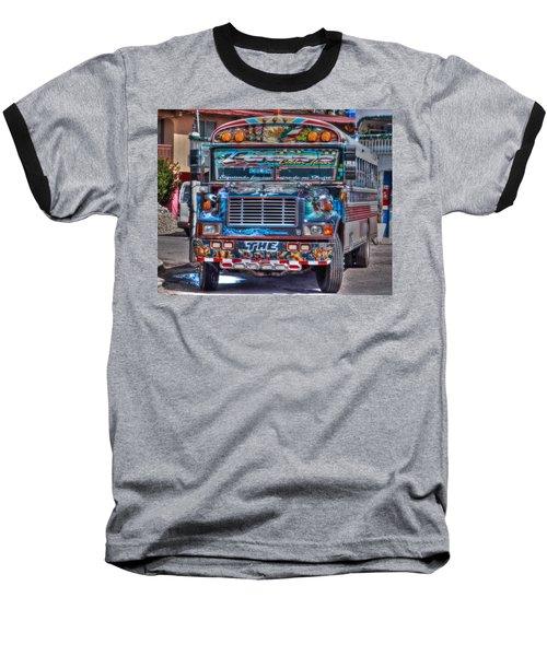 Neat Panamanian Graffiti Bus  Baseball T-Shirt by Eti Reid
