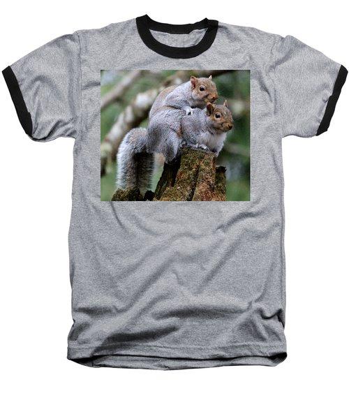 Fifty Shades Of Gray Squirrel Baseball T-Shirt