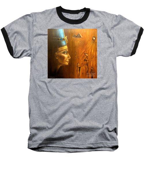 Baseball T-Shirt featuring the painting Nefertiti by Arturas Slapsys