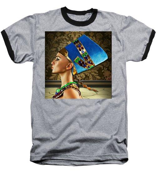 Baseball T-Shirt featuring the digital art Nefertiti by Karen Showell