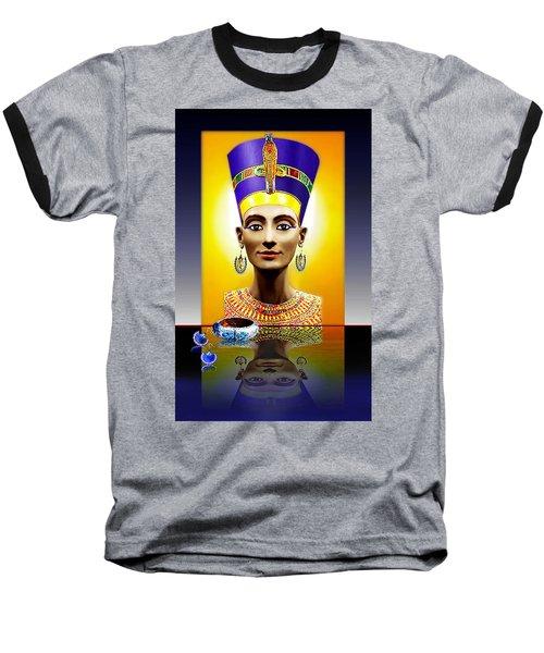 Nefertiti  The  Beautiful Baseball T-Shirt by Hartmut Jager