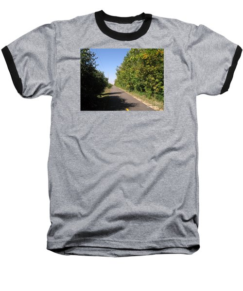 Neighborhood Bicycle And Walking Trail Baseball T-Shirt