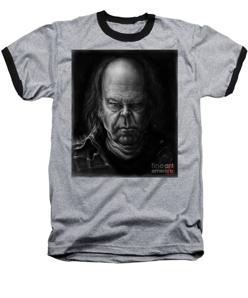 Neil Young Baseball T-Shirt by Andre Koekemoer