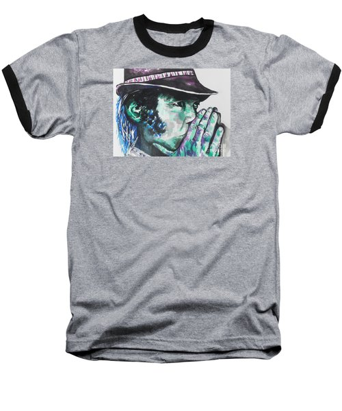 Neil Young Baseball T-Shirt by Chrisann Ellis