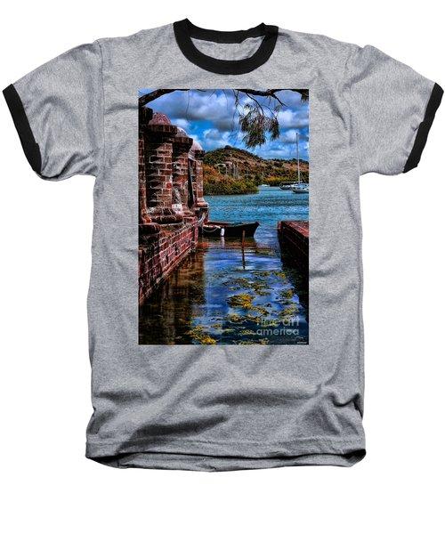 Nelson's Dockyard Antigua Baseball T-Shirt by Tom Prendergast
