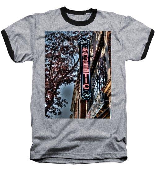 Neon At Dusk Baseball T-Shirt