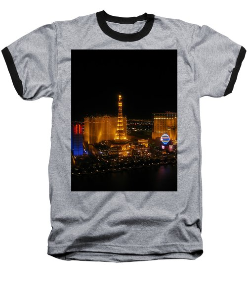 Baseball T-Shirt featuring the photograph Neon Illusion by Angela J Wright