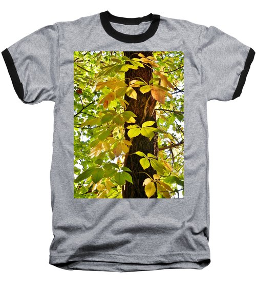 Neon Leaves Baseball T-Shirt