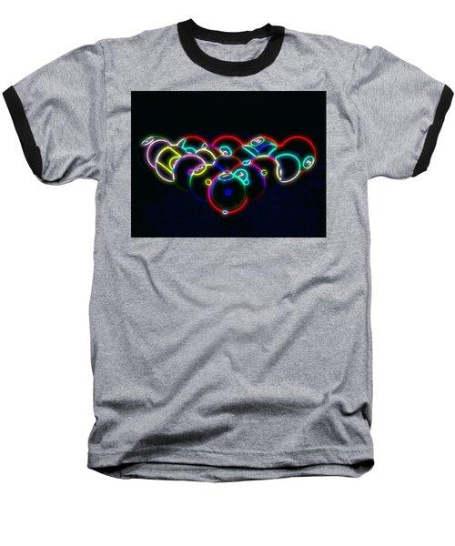 Neon Pool Balls Baseball T-Shirt