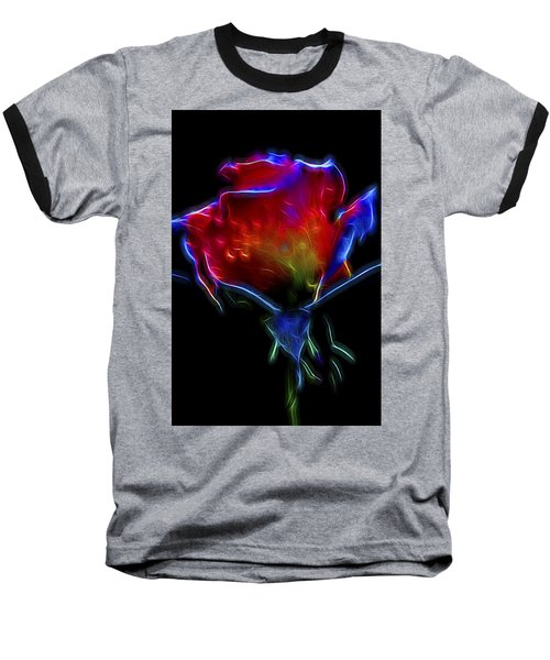 Neon Rose Baseball T-Shirt
