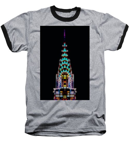 Neon Spires Baseball T-Shirt by Az Jackson