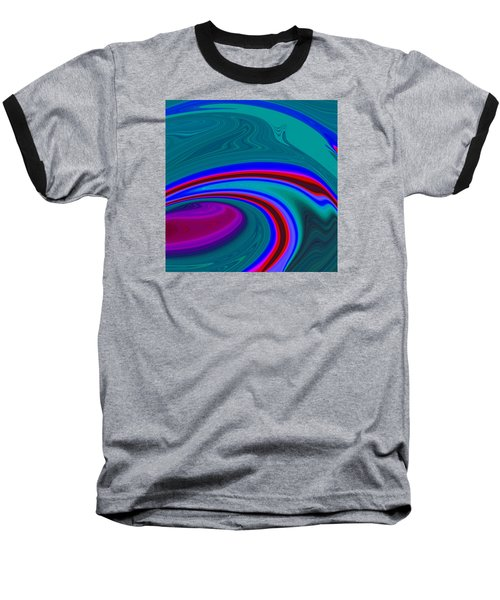 Baseball T-Shirt featuring the painting Neon Wave C2014 by Paul Ashby