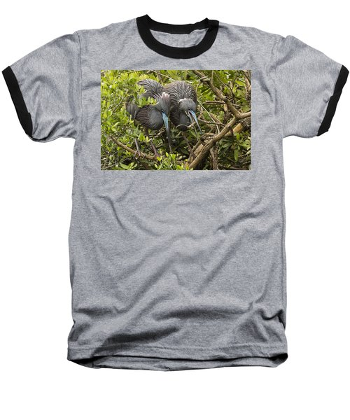 Baseball T-Shirt featuring the photograph Nest Building by Priscilla Burgers