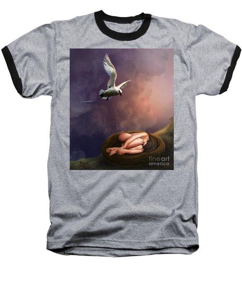 Baseball T-Shirt featuring the digital art Nesting Woman by Rosa Cobos