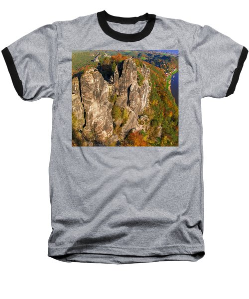 Neurathen Castle In The Saxon Switzerland Baseball T-Shirt