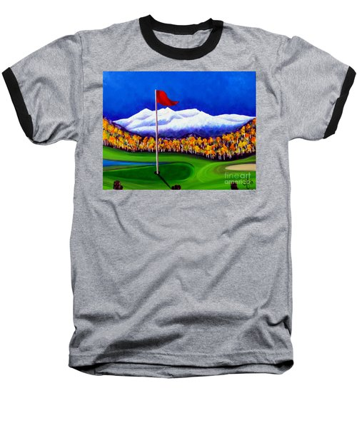 Baseball T-Shirt featuring the painting Never Enough by Jackie Carpenter