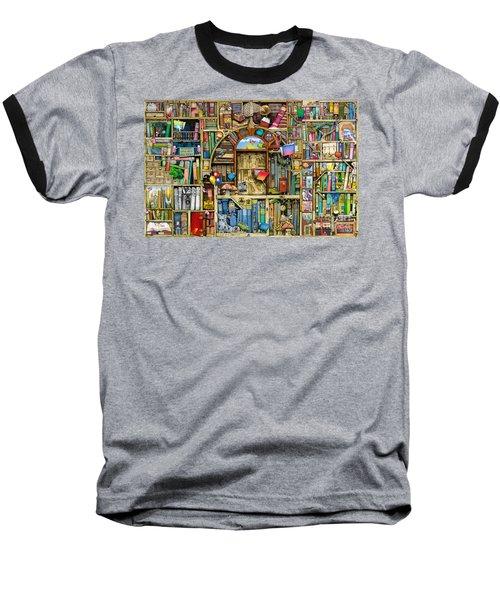 Neverending Stories Baseball T-Shirt by Colin Thompson