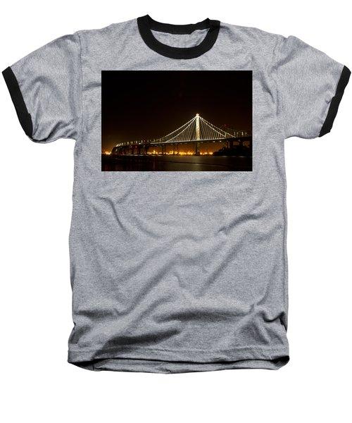 New Bay Bridge Baseball T-Shirt by Bill Gallagher