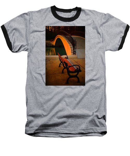 New Bridge And Bench Baseball T-Shirt