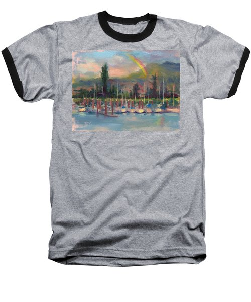 New Covenant - Rainbow Over Marina Baseball T-Shirt