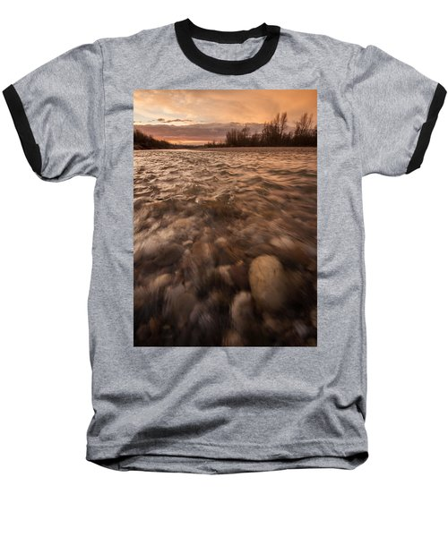 Baseball T-Shirt featuring the photograph New Dawn by Davorin Mance