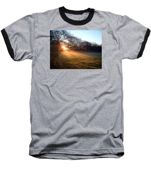 New Dawn Fades Baseball T-Shirt by Richard Brookes