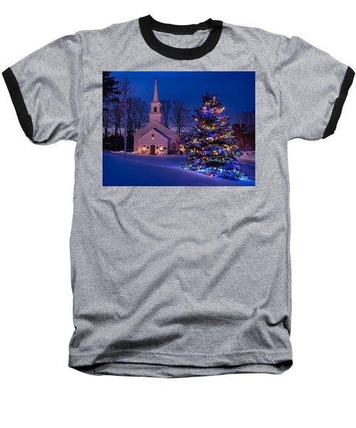 New England Christmas Baseball T-Shirt
