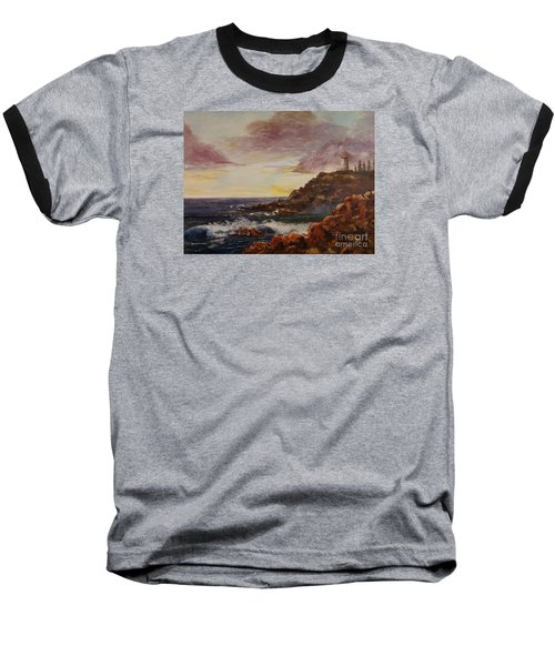 Baseball T-Shirt featuring the painting New England Storm by Lee Piper