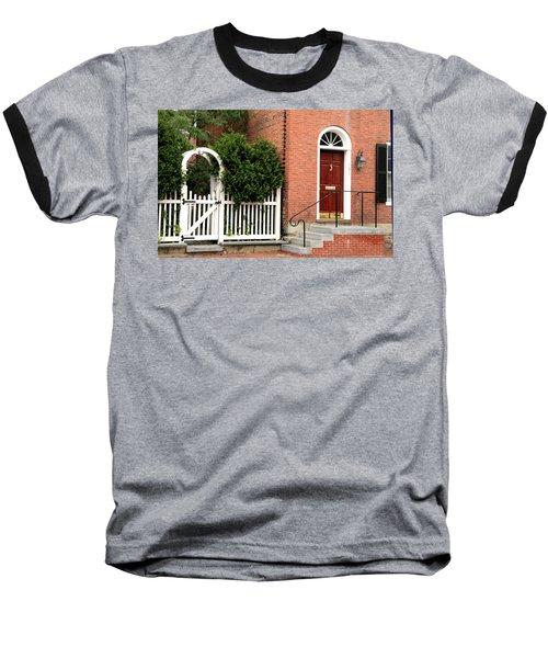 New England Street Scene Baseball T-Shirt
