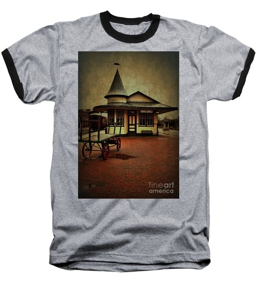 Baseball T-Shirt featuring the photograph New Hope Ivyland Train Station by Debra Fedchin