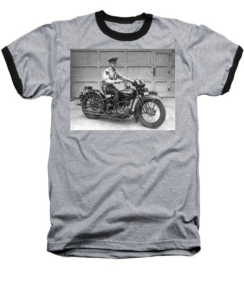 New Jersey Motorcycle Trooper Baseball T-Shirt