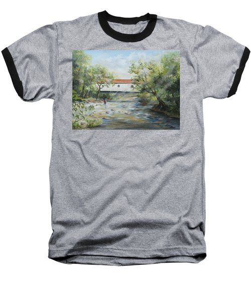 New Jersey's Last Covered Bridge Baseball T-Shirt