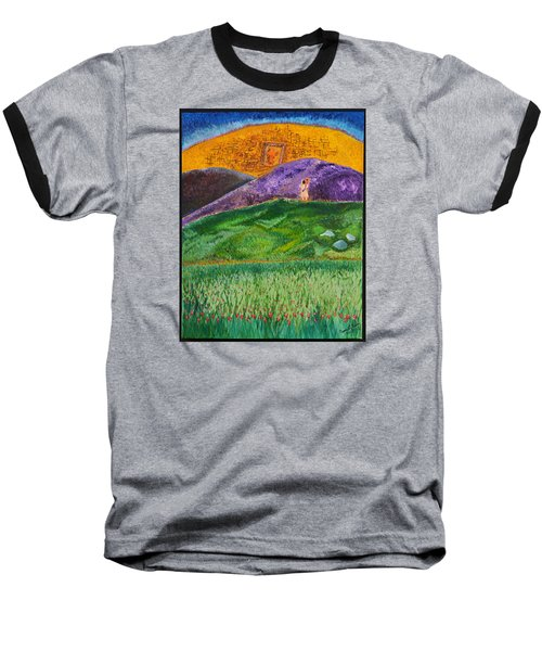 Baseball T-Shirt featuring the painting New Jerusalem by Cassie Sears