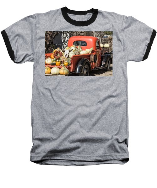 New Mexico Fall Harvest Truck Baseball T-Shirt by Steven Bateson