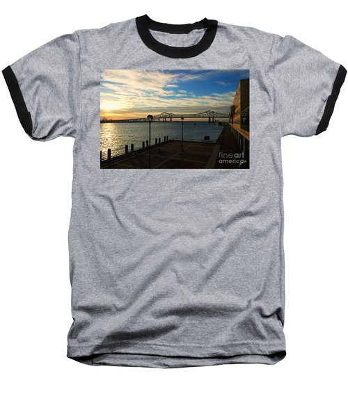 Baseball T-Shirt featuring the photograph New Orleans Bridge by Erika Weber