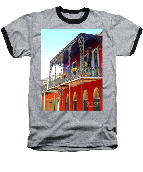 New Orleans French Quarter Architecture 2 Baseball T-Shirt