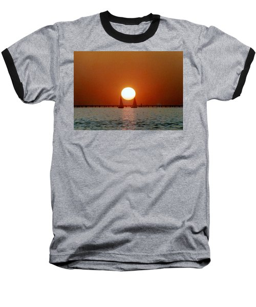 Baseball T-Shirt featuring the photograph New Orleans Sailing Sun On Lake Pontchartrain by Michael Hoard
