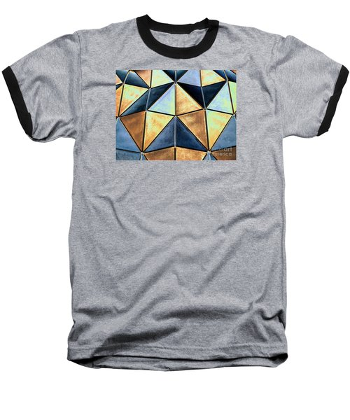 Pop Art Abstract Art Geometric Shapes Baseball T-Shirt