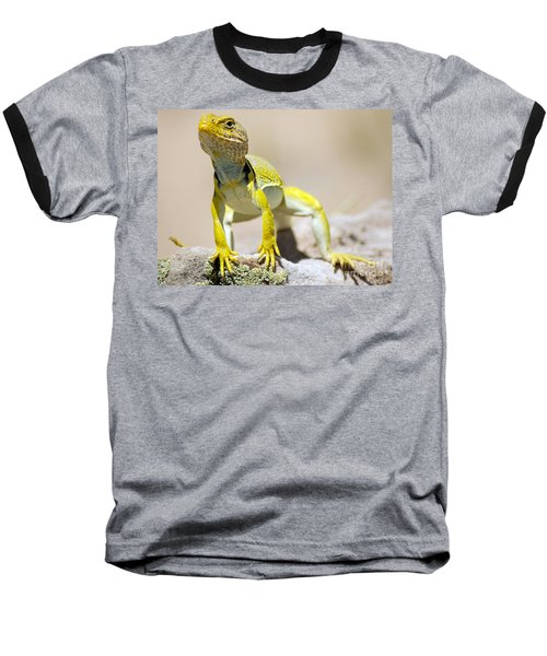 New Photographic Art Print For Sale Yellow Lizard Ghost Ranch New Mexico Baseball T-Shirt