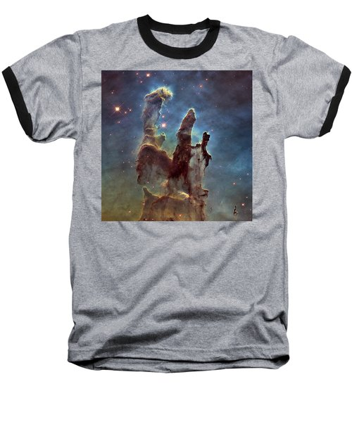 New Pillars Of Creation Hd Square Baseball T-Shirt by Adam Romanowicz