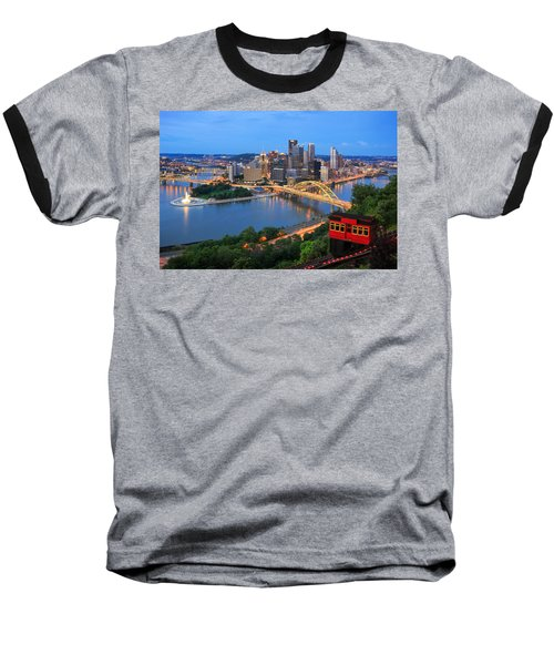 Pittsburgh Summer  Baseball T-Shirt by Emmanuel Panagiotakis