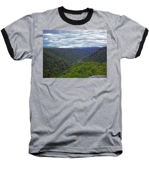 New River Bridge Baseball T-Shirt by Aimee L Maher Photography and Art Visit ALMGallerydotcom