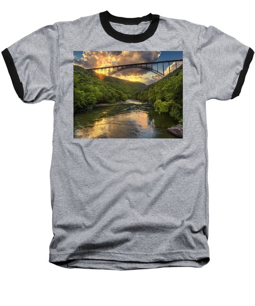 New River Evening Glow Baseball T-Shirt