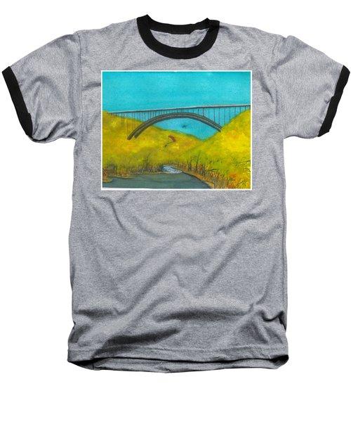 New River Gorge Bridge On Bridge Day Baseball T-Shirt