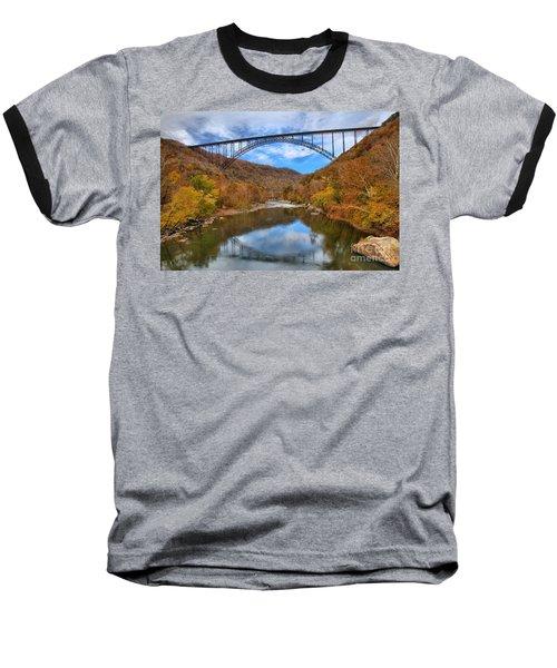 New River Gorge Reflections Baseball T-Shirt
